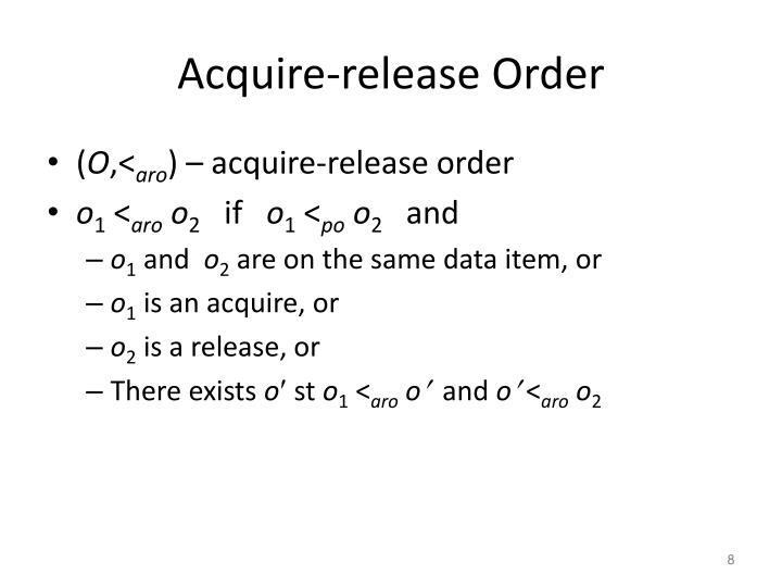 Acquire-release Order