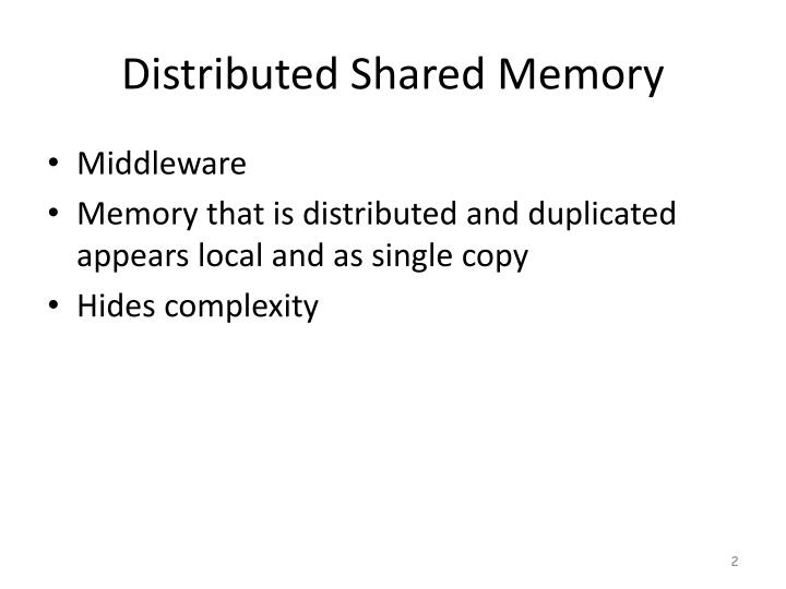 Distributed shared memory1