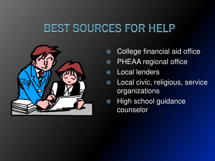 Best Sources for Help