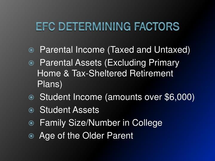 EFC Determining Factors