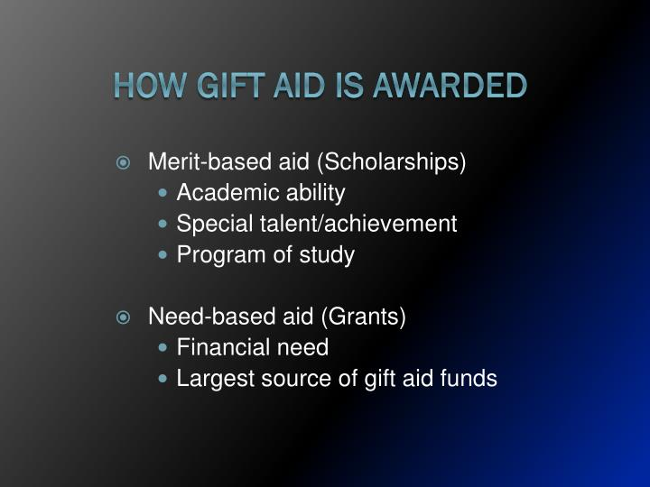 How Gift Aid is Awarded
