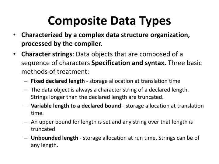 Composite Data Types