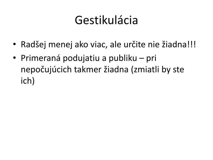 Gestikulácia