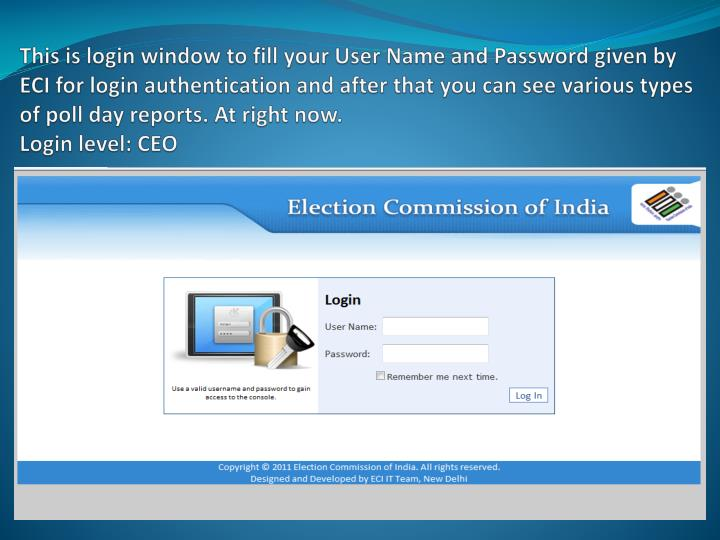 This is login window to
