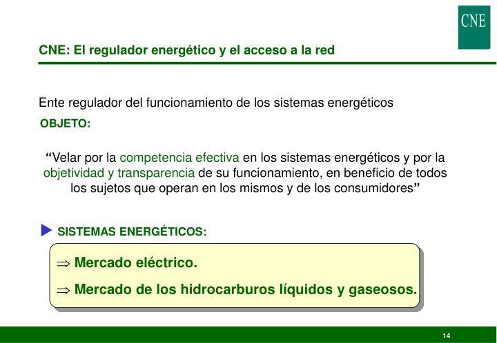 CNE: El regulador energético y el acceso a la red