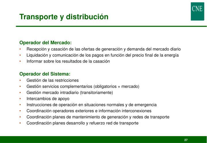 Transporte y distribución