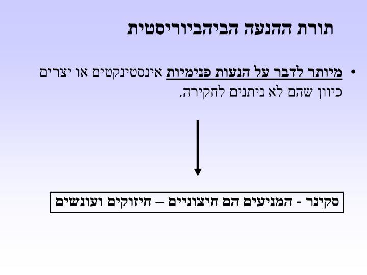 תורת ההנעה הביהביוריסטית
