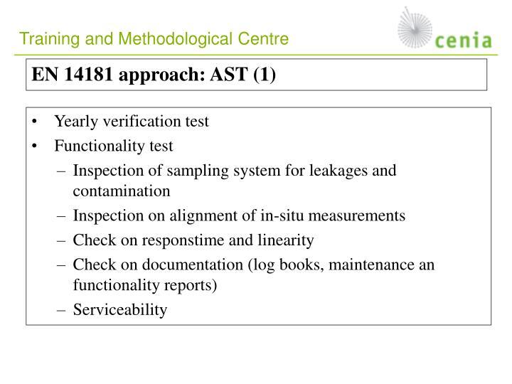 EN 14181 approach:
