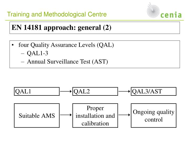 EN 14181 approach: general (2)
