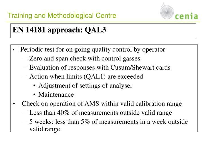 EN 14181 approach: QAL