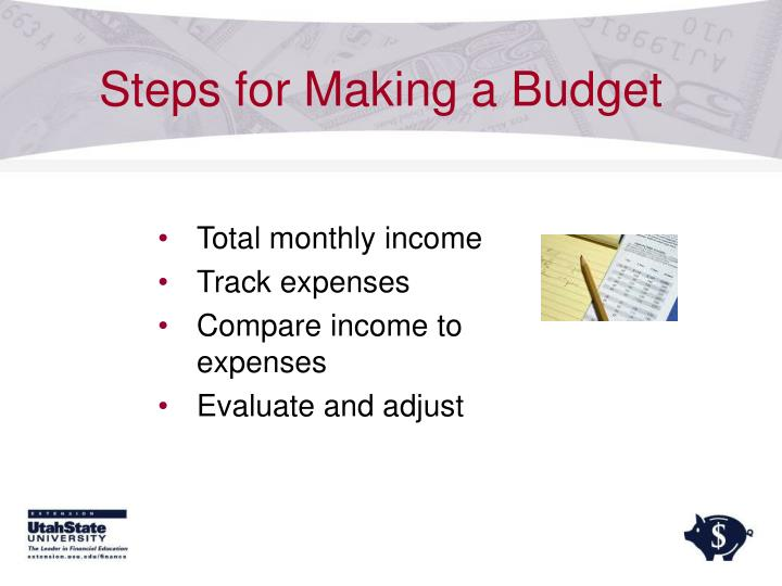 Steps for Making a Budget