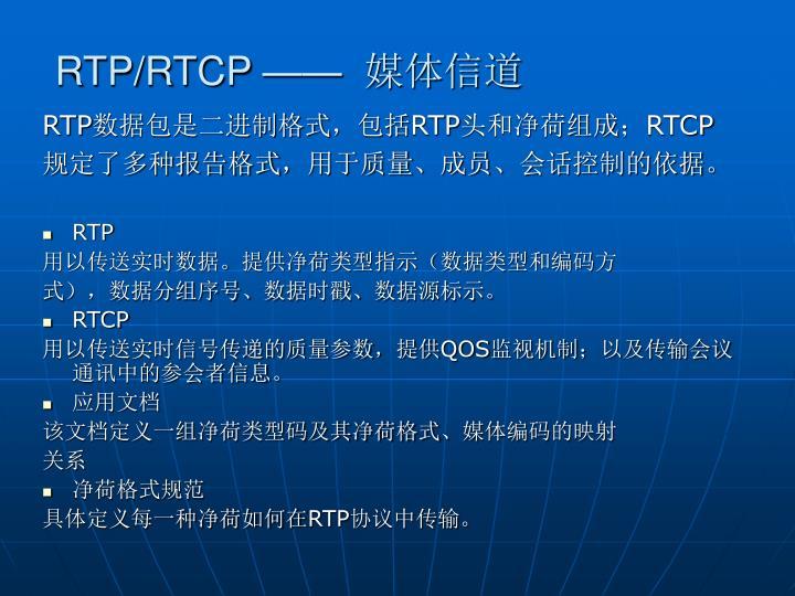 RTP/RTCP ——