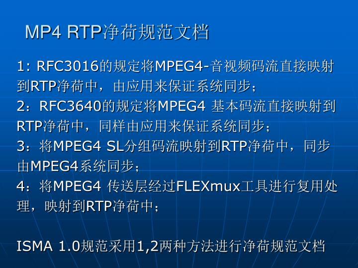 MP4 RTP