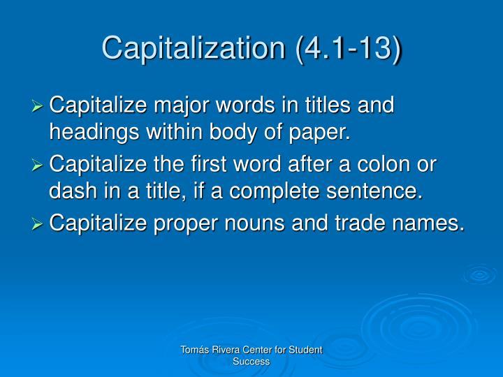 Capitalization (4.1-13)