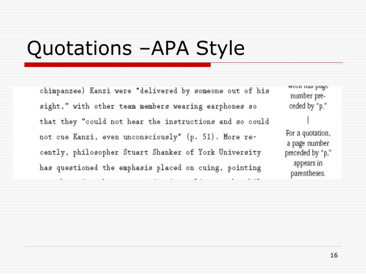 Quotations –APA Style