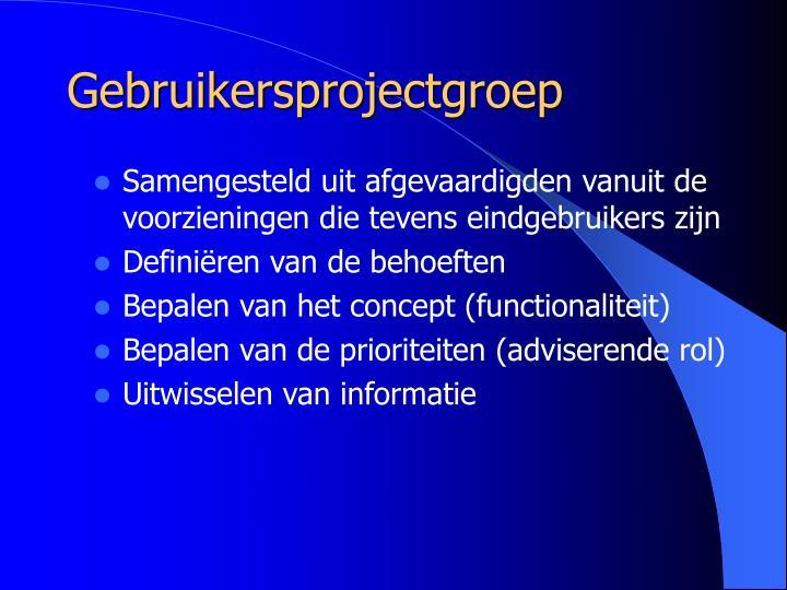 Gebruikersprojectgroep