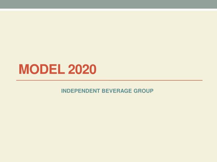 model 2020