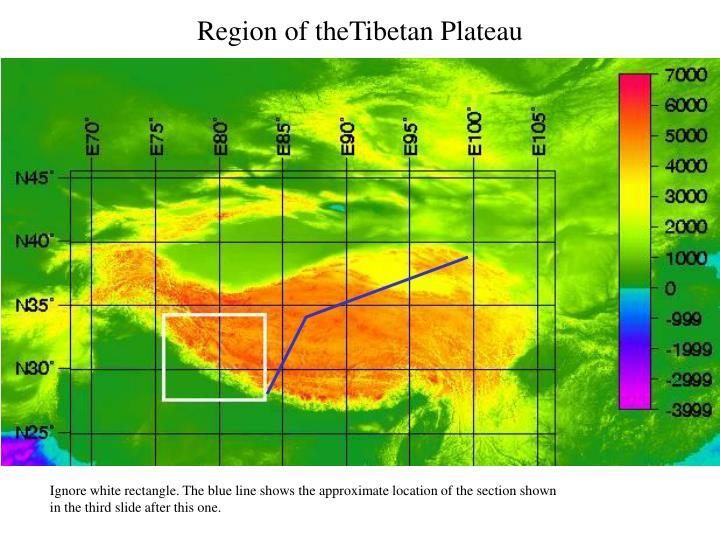 Region of theTibetan Plateau