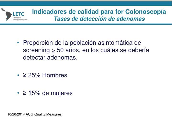 Proporción de la población asintomática de screening