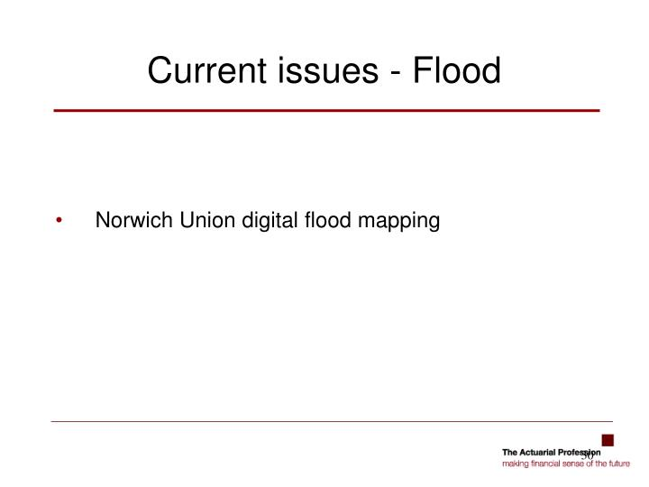 Norwich Union digital flood mapping