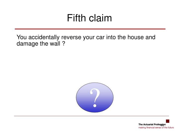 You accidentally reverse your car into the house and damage the wall ?