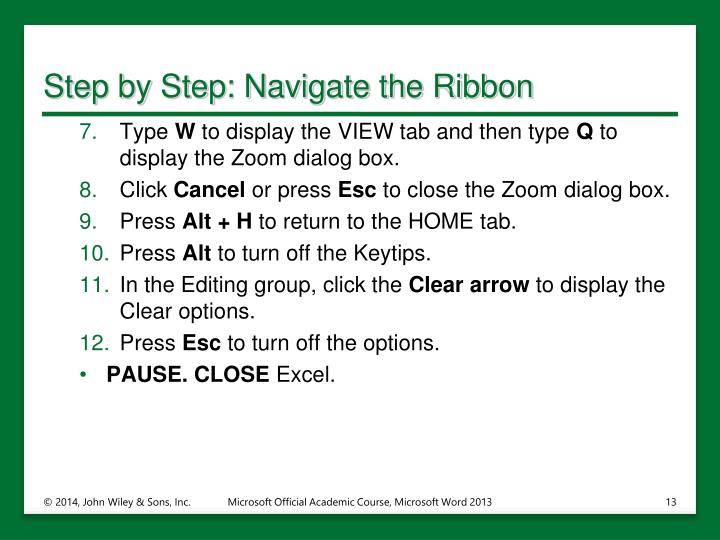 Step by Step: Navigate the Ribbon
