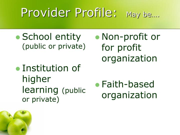 School entity