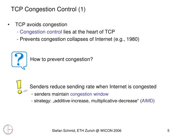 TCP Congestion Control (1)