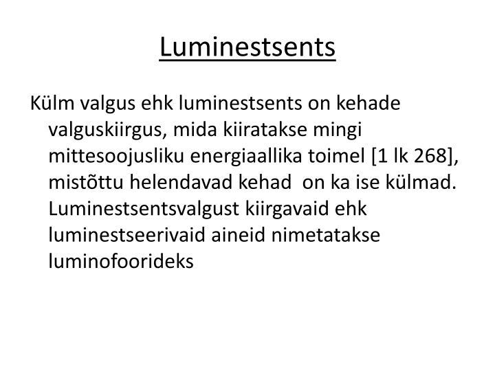 Luminestsents