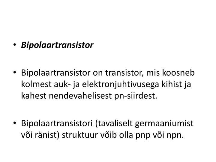 Bipolaartransistor