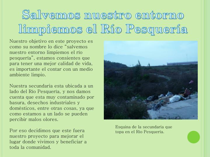 Salvemos nuestro entorno limpiemos el Río