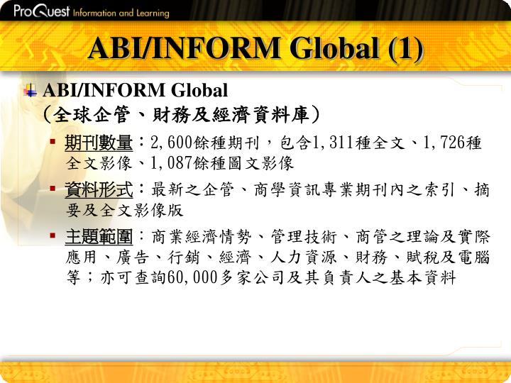 ABI/INFORM Global (1)