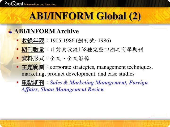 ABI/INFORM Global (2)