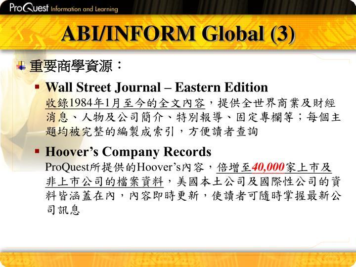 ABI/INFORM Global (3)