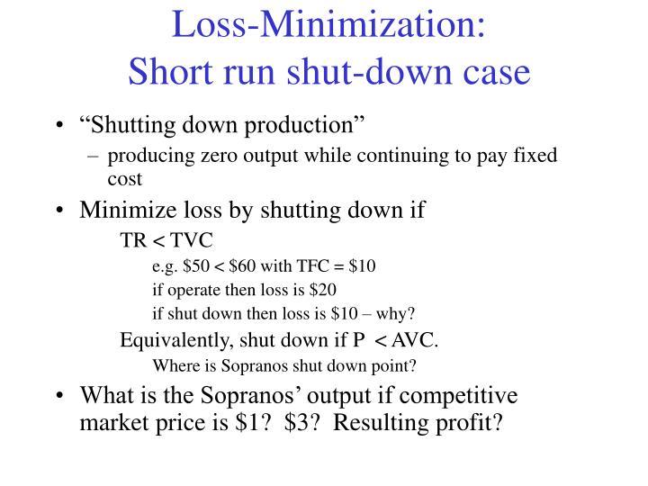 Loss-Minimization: