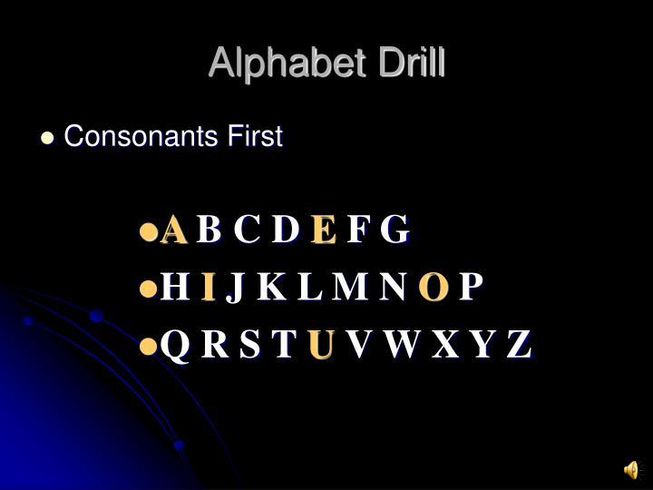 Alphabet Drill