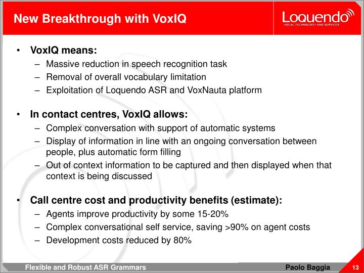 New Breakthrough with VoxIQ