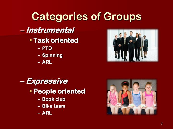 Categories of Groups