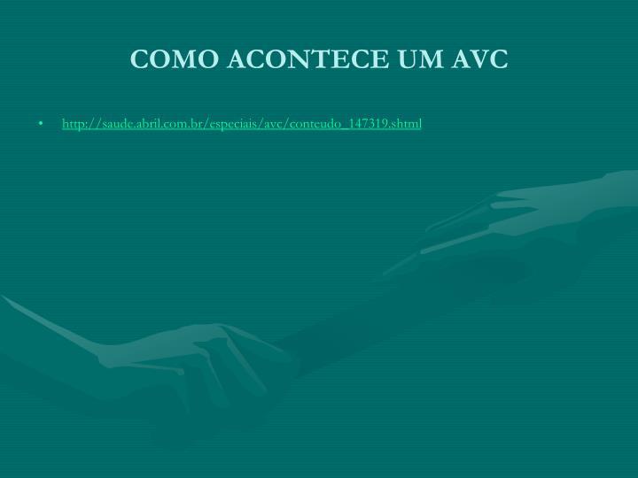 COMO ACONTECE UM AVC