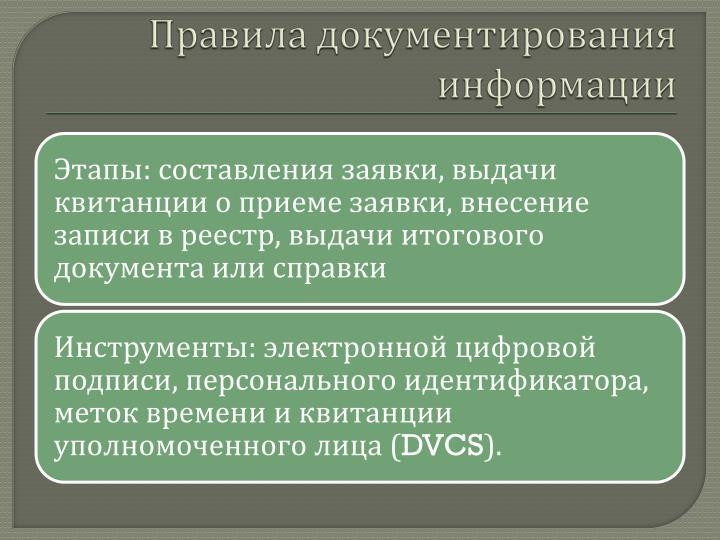 Правила документирования информации