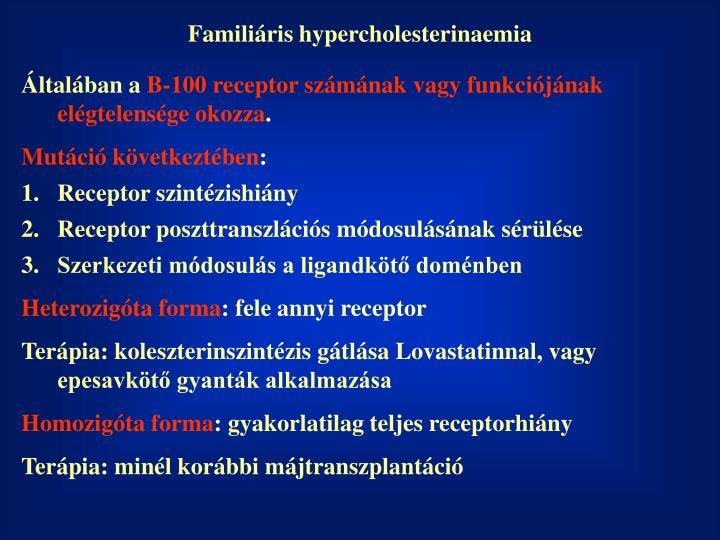 Familiáris hypercholesterinaemia