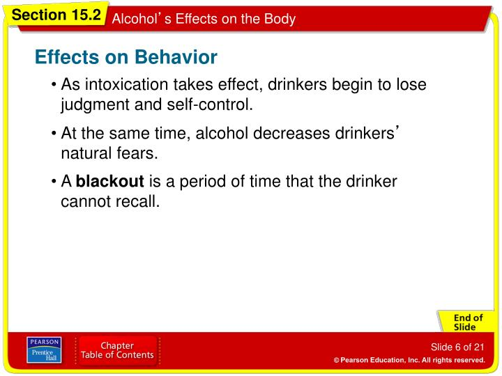 Effects on Behavior