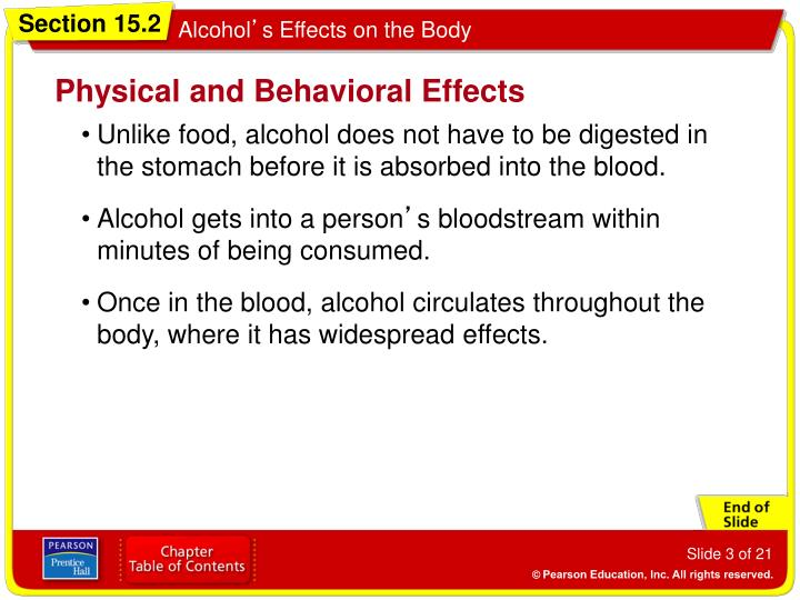 Physical and behavioral effects