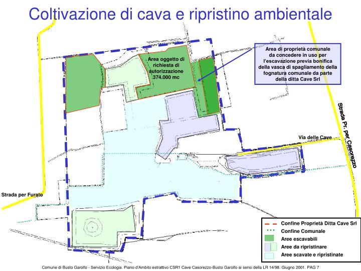 Coltivazione di cava e ripristino ambientale