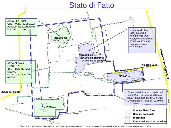 ____________Stato di Fatto_________