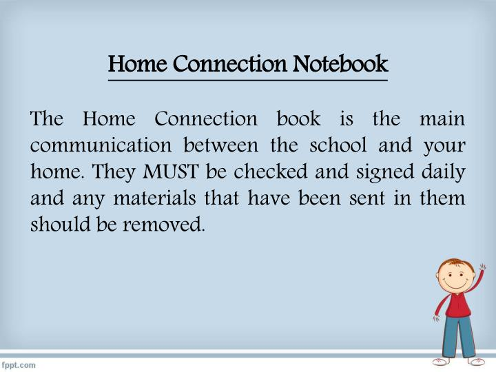Home Connection Notebook