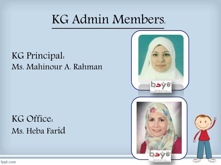 KG Admin Members