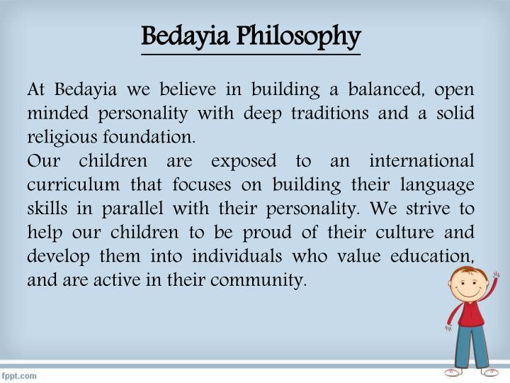 Bedayia Philosophy