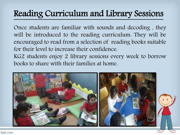 Reading Curriculum and Library Sessions