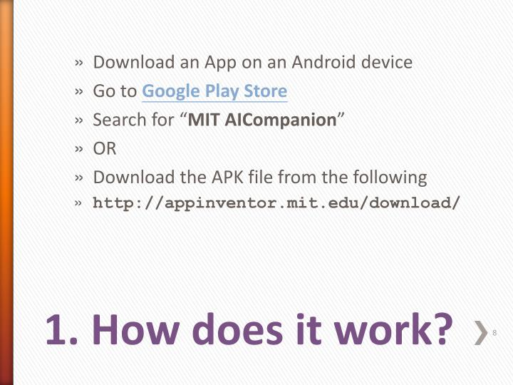 Download an App on an Android device